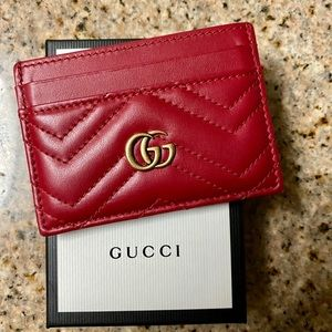 Gucci Card Wallet in Red